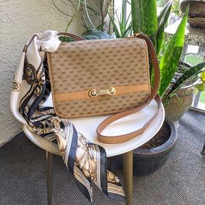 Vintage Gucci Micro GG Shoulder Bag Fabric Italy